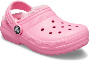 Crocs-Size-J2-J-2-Pink-Lined-Clogs-New-Girls-Shoes