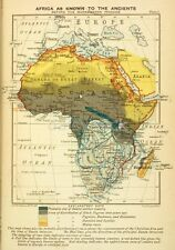 Map of Africa 'As Known To The Ancients' 1899 Cololnialism 6x4 Inch Reprint