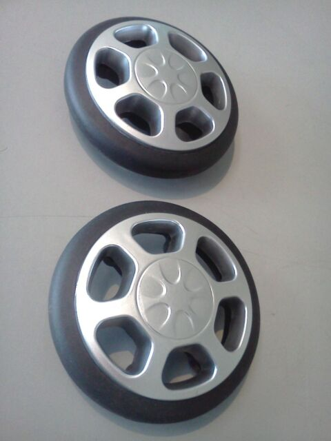 Replacement luggage corner roller Skate wheels 85mm diameter.