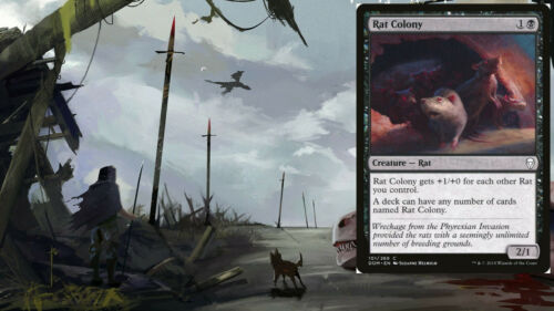 Magic Cards Ready-to-Play Modern Casual Rats Deck RAT COLONY Custom Deck