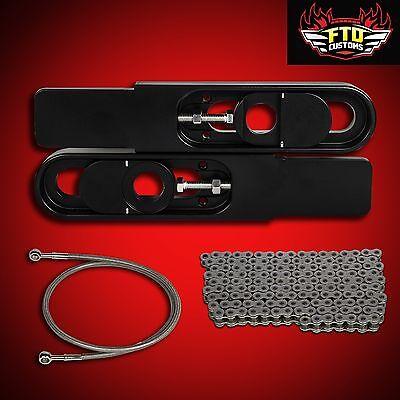 "2006 Ninja ZX10R Swingarm Extensions, 36"" Brake Line, 525 Chain, ZX-10R"