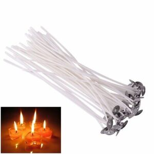 Lots CANDLE WICKS Pretabbed 6 inch Cotton CORE 20 to 200pcs Candle Making