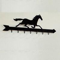 Pottery Barn Horse Weather Vane Row Of Hooks Peg Rack Antique Bronze