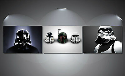 Star Wars Helmets Vadar Storm Trooper Poster Set - A4-A3-A2 Sized Sets of 3