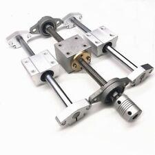 T8 Dual Lead Screw Rod Linear Rail Optical Axis With Horizontal Bearing Set