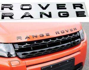 RANGE-ROVER-Gloss-Black-Letters-Hood-Trunk-Tailgate-Emblem-Badge-Nameplate-New