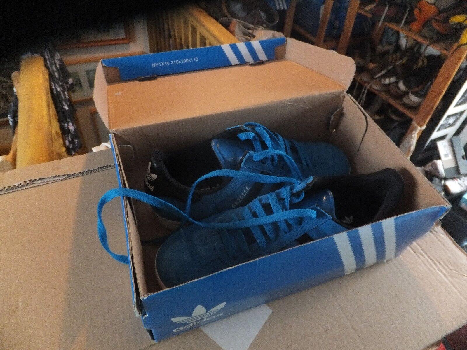 ADIDAS Gazelle Stock bluetrainers da uomo 8.5UK Dead Stock Gazelle Vintage 361654
