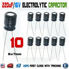 10pcs 220uf 16v 105c Capacitor Electrolytic 6x7mm For 16v 10v 63v Aluminum