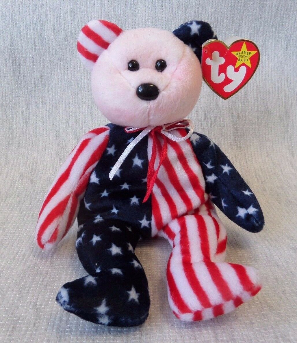 VINTAGE BEANIE BABY RARE PINK FACE BEAR  SPANGLE   MINT CONDITION   RETIRED