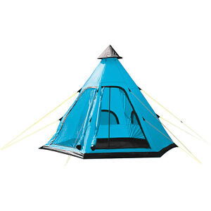new product 5087e 43405 Details about TEEPEE TIPI STYLE 4 PERSON BERTH CAMPING FESTIVAL WIGWAM TENT  CAMPING OUTDOOR TR