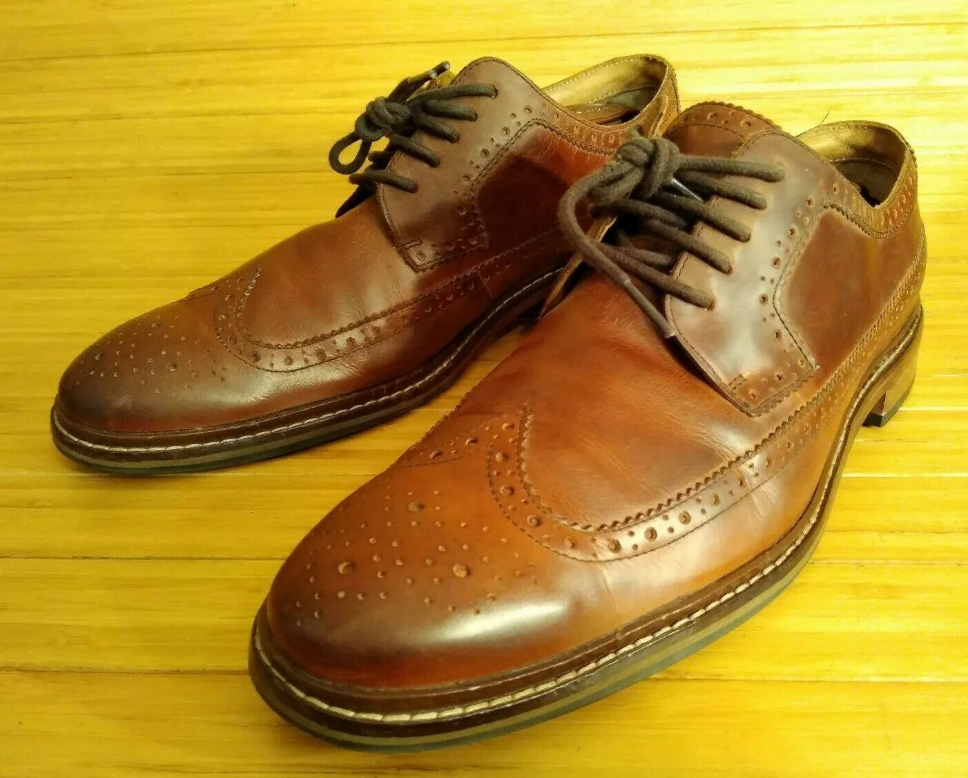 Cole Haan Brown Leather Wingtips 13 M. formal   casual