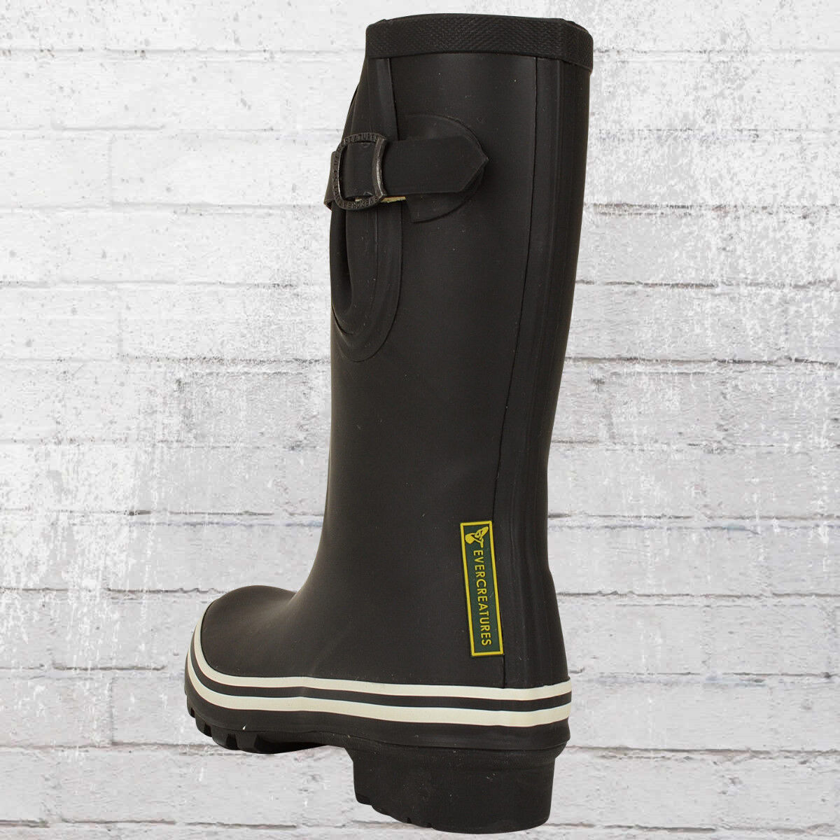Evercreatures señora botas de goma Black Wellie short negro mujeres botas de goma