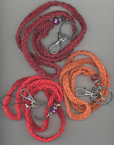 Braided-seed-bead-lanyard-necklace-keychain-id-holder-Blowout