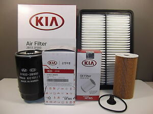 genuine kia sorento suv 2 2l crdi turbo diesel filter pack. Black Bedroom Furniture Sets. Home Design Ideas