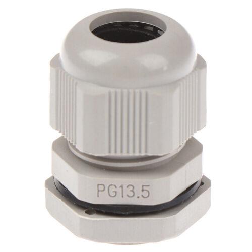 5Pcs New PG13.5 plastic waterproof connector gland 6-12mm dia cable ES