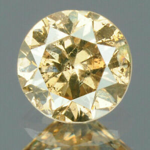 0-46-Carats-NATURAL-Sparkly-Yellowish-Brown-DIAMOND-LOOSE-Round-Cut-4-6x3-0mm
