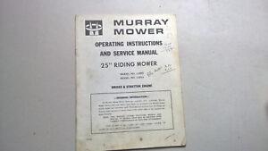 LIVRET-D-ENTRETIEN-TRACTEUR-TONDEUSE-MURRAY-MOWER-MODELE-2503-2513-ANGLAIS