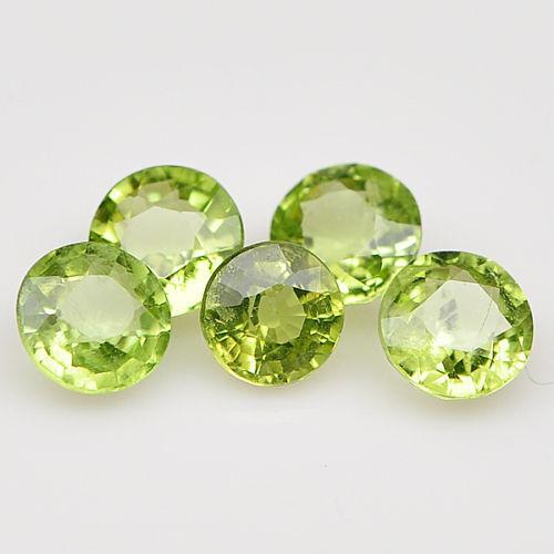 Honig 5 Stücke 3mm Rund Facettiert Stark-grün Natürlich Afghanische Peridot Edelsteine
