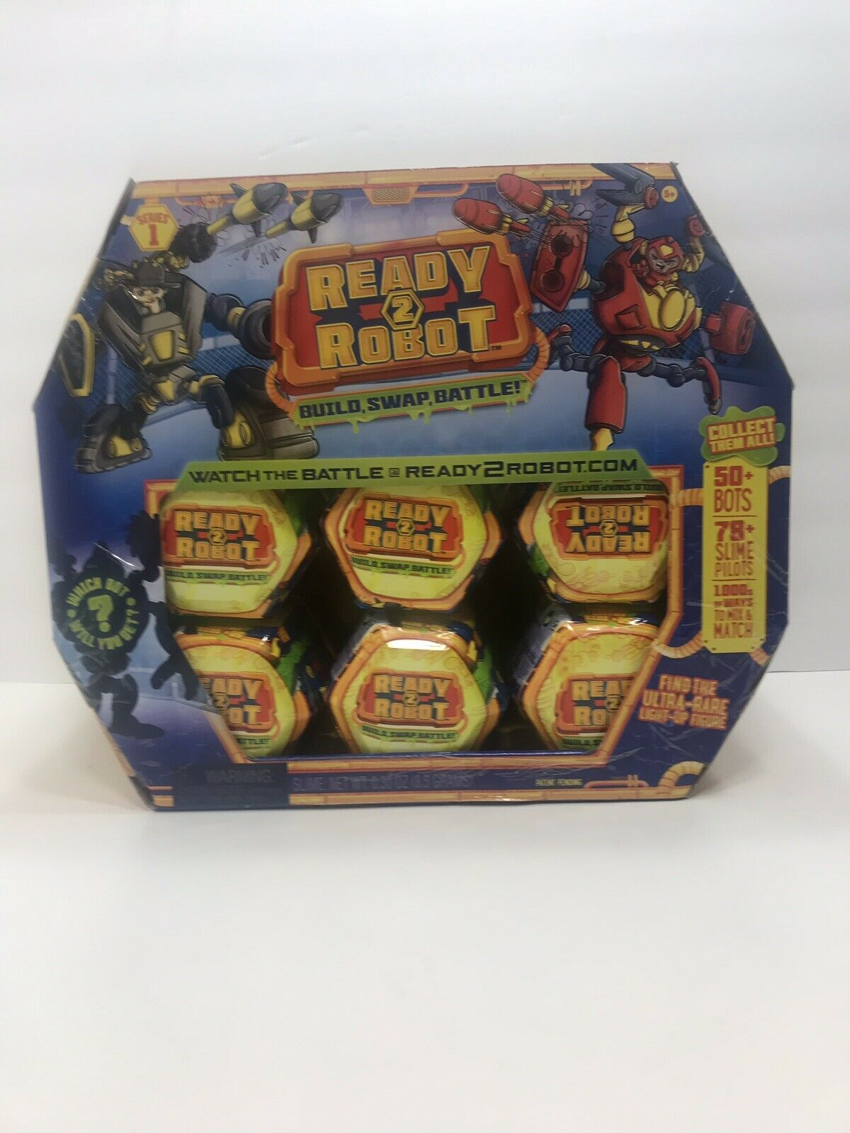 Ready2Robot Series1 Pop Bot Build Swap Battle Full Retail Case Of 18 New in Box