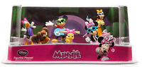 Disney Store Minnie Mouse Rock Star Figurine Playset Toy Cake Topper Set