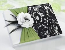 Lillian Rose GB750 Guest Book Green and Black