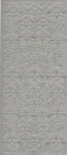 Starform Outline Stickers N° 1114 Fleurs Auto-collants Peel offs Carterie