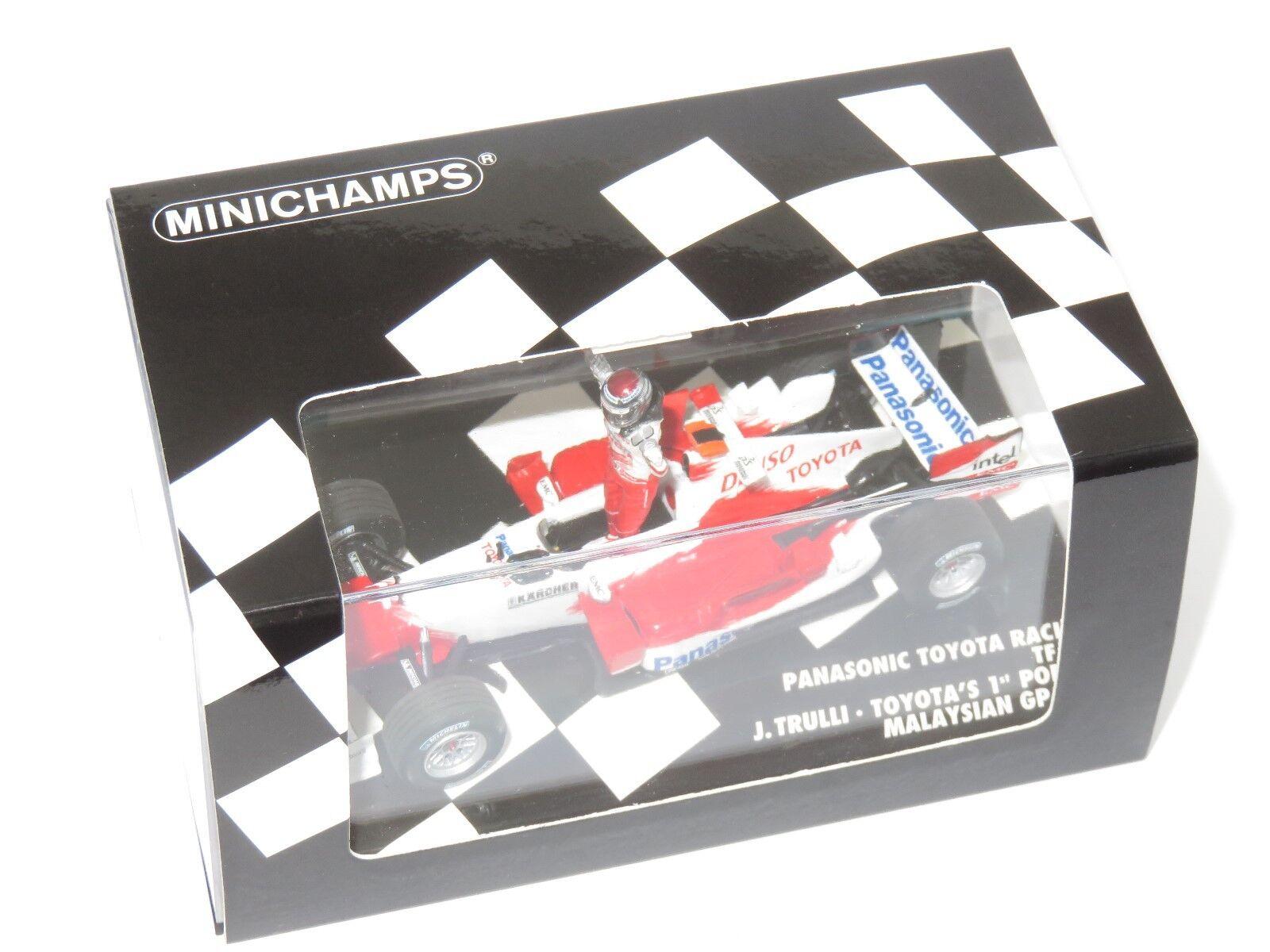 1 43 Panasonic Toyota Racing TF105 TOYOTA's 1st F1 podium 2005 J. Trulli