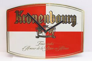 Vintage-Kronenbough-Beer-Brewery-Wall-Clock-Pub-Bar-Man-Cave-Tin-Metal-Sign
