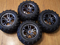 Traxxas Black Chrome Wheel Maxx Tire 2 Revo EMX TMX TRA4983A
