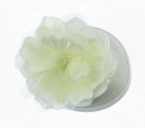 PROM WEDDINGS CREAM CAP SATIN FASCINATOR FLOWER RACES