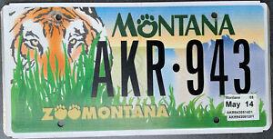 USA Nummernschild MONTANA ZOO TIGER GRAFIK - alte Version US Kennzeichen Schild