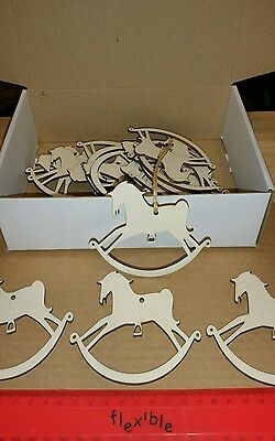 Wooden Gift Tags Rocking Horse Bulk Buy x 18 | eBay