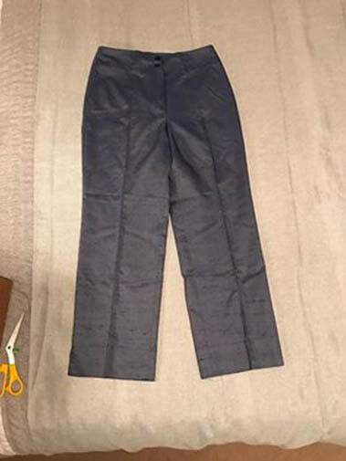 Margon Women's bluee Silk Denim Pants Made in  size 42 New With Tags NWT