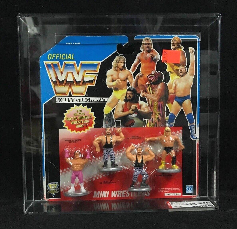 WWF Hasbro Mini Wrestlers AFA 75+ Bushwhackers Brutus Beefcake Greg Valentine
