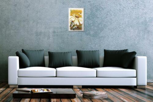 Blechschild Schmetterling Deko Weie Margerite Metall Deko Wand Schild 20X30 cm