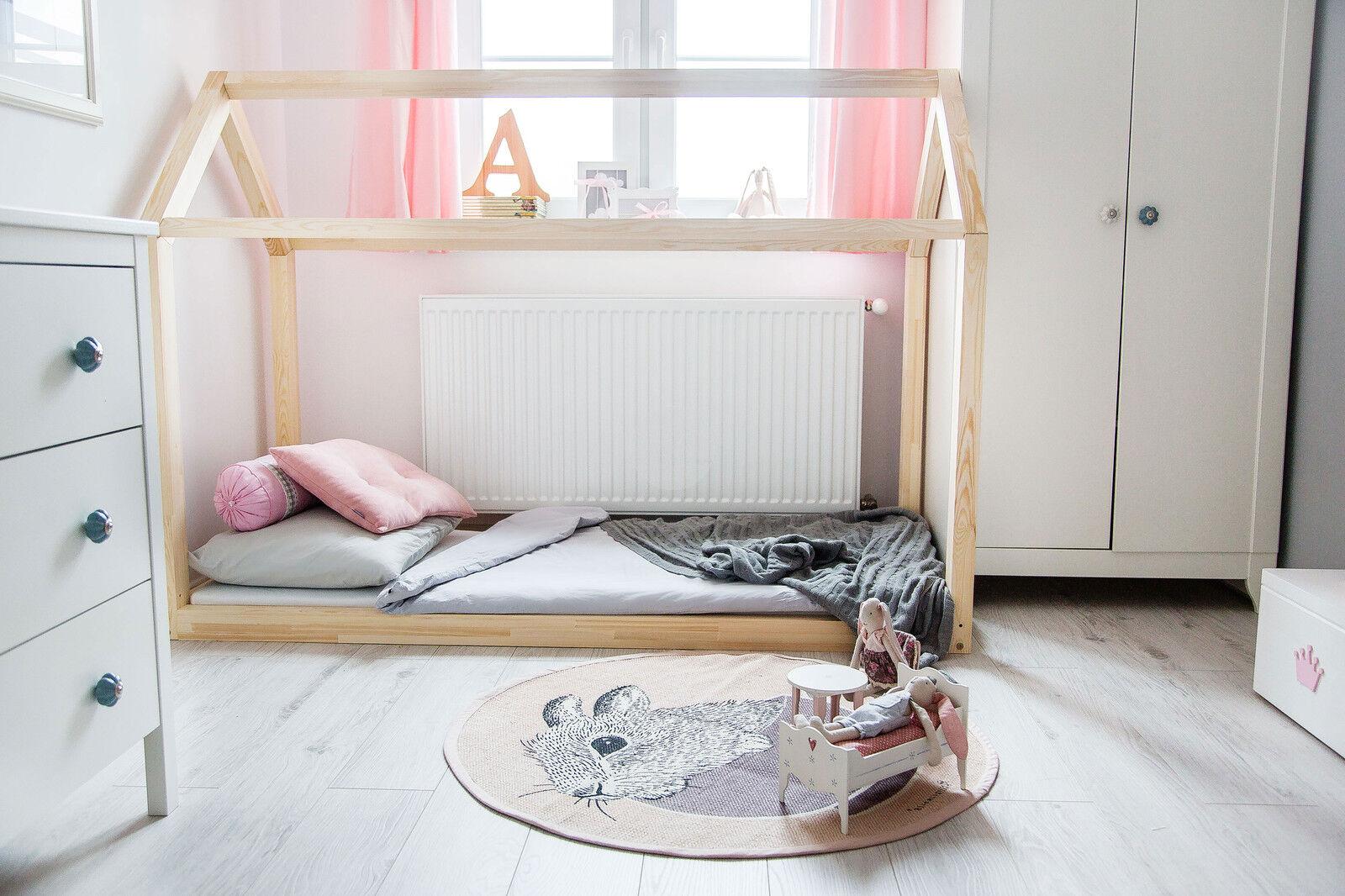 Lit enfant-Maison en bois Lit pour enfants Talo d2 120x200 cm