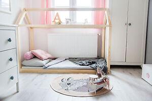 Kinderbett Holzhaus Bett Fur Kinder Talo D2 120x200 Cm Ebay