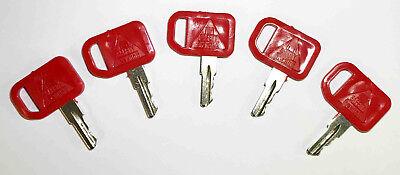 John Deere Multiquip and Indak Equipment Ignition Start Starter Keys JD 5