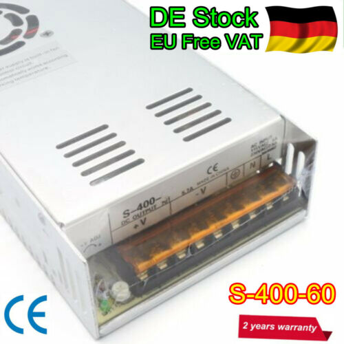 〖Ger〗400W 60V DC Power Supply Switching PSU 6.6A for CNC Milling//Servo Motor//LED
