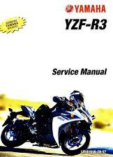 2015 2016 Yamaha R3 YZF-R3 service manual on CD