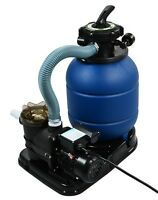 2400gph 13 Sand Filter W/ Swimming Pool Pump Ul List 10000gal 4 Way Kit Set on sale