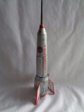 "VTG TIN LITHO METAL FRICTION TOY SOVIET ERA SPACE ROCKET SHIP 15.5"""