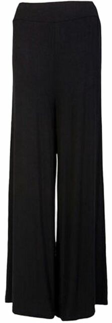 Womens Wide Leg Palazzo Trousers Ladies Flared Bottom Pants 8-16