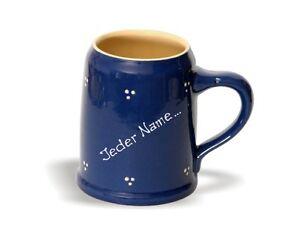 bierkrug mit name 0 50 ltr keramik krug becher pott. Black Bedroom Furniture Sets. Home Design Ideas