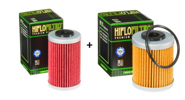 HIFLO FILTRO KIT FILTRI OLIO HF155 + HF157 KTM 690 SUPERMOTO R 2008 2009