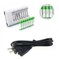 Latest For 8 AA/AAA Ni-MH Ni-Cd Rechargeable Battery Automatic Power Charger