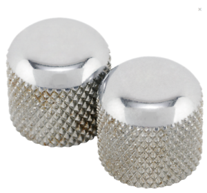 Genuine-Fender-Road-Worn-Aged-Relic-Chrome-Dome-Knobs-099-7211-000
