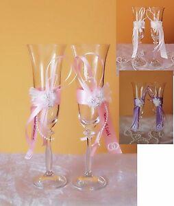 Moderne Hochzeitsgläser,Sektgläser sehr Edel Hochzeitsgeschenk-Dekor