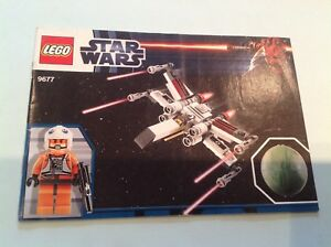 Image is loading Lego-Star-Wars-9677-X-WING-STARFIGHTER-Building-
