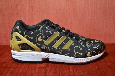 new style 0ebdc d5a55 NEW ADIDAS ZX FLUX Golden Arrow Head SIZE 9W Mens 7.5 Black ...